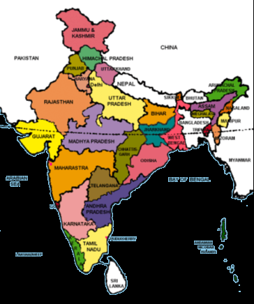 Space relationship of India with neighbouring countries
