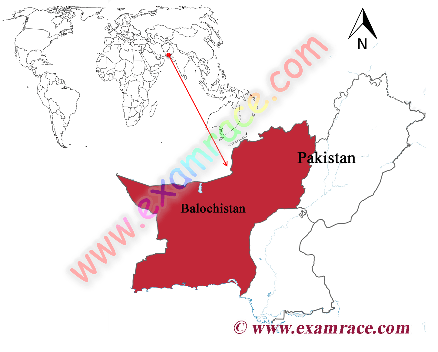 Location of Baluchistan on Map