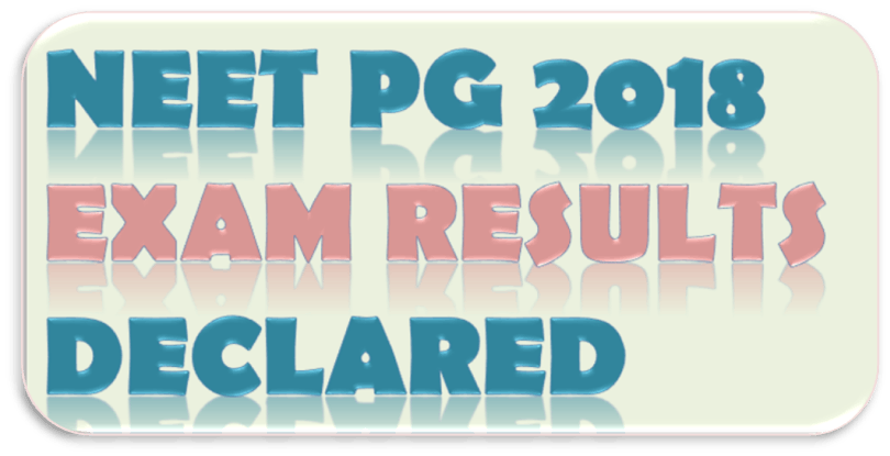 Image of NEET PG 2018 Exam Results Declared