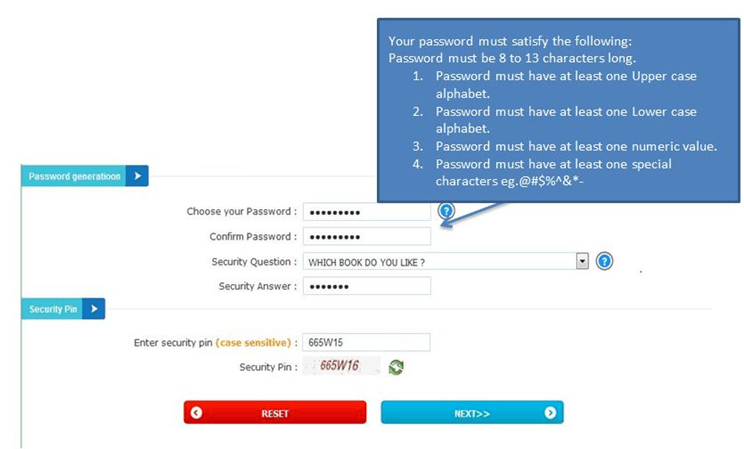 Selecting Password