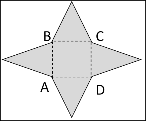 ABCD is a square with perimeter 12