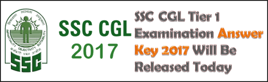 Image of SSC CGL Tier 1 Examination Answer Key 2017