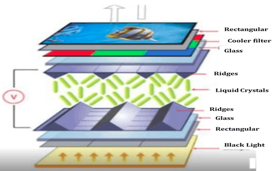 Showing image of Thin-Film-Transistor Liquid-Crystal Display (TFT LCD).