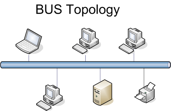 This diagram shows Bus Network Topology