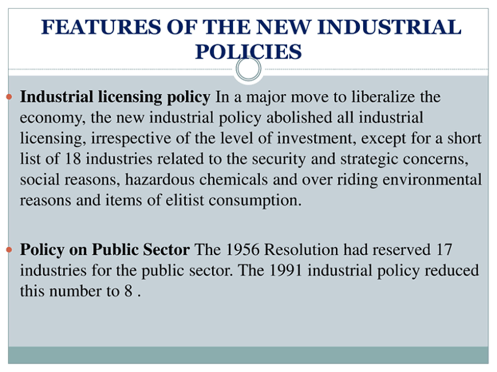 Image of Features of the new industrial policies