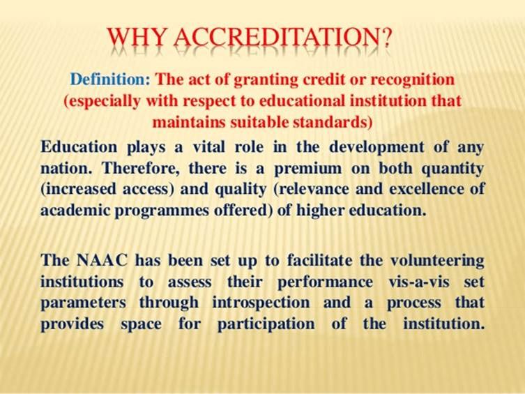 Image of accreditation