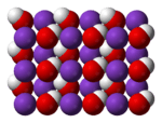 Image of Crystal structure of KOH