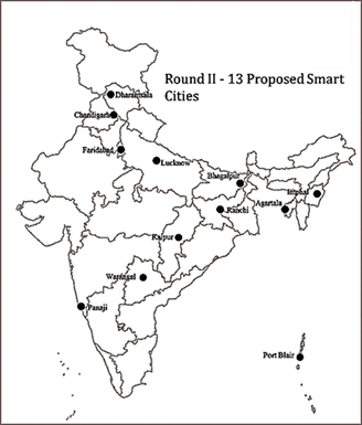 Image of 13 Proposed Smart Cities In Map
