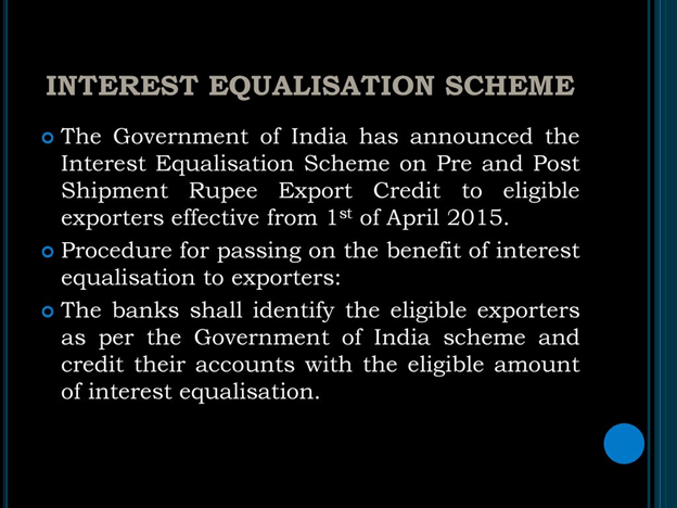 Interest equalization scheme
