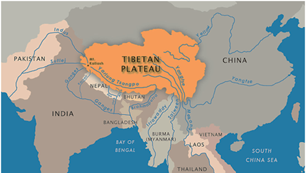 Image of Rivers Originating From Tibet