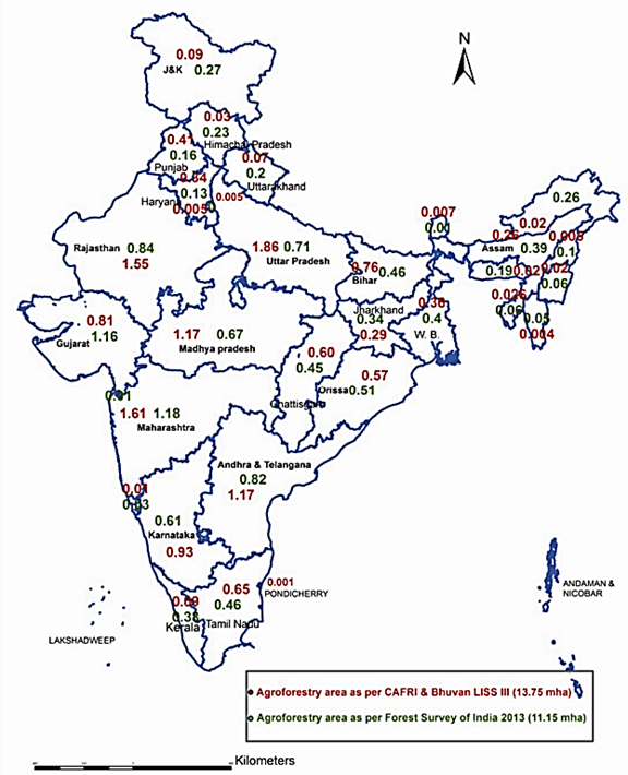 Map of National Agroforestry Policy