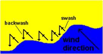 Image of Swash And Backwash process