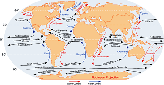 Image of Movements of Ocean Currents