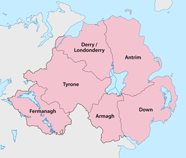 Image of County Down in Northern Ireland