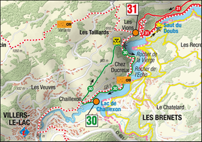 Image of Les Taillards and Les Brenets