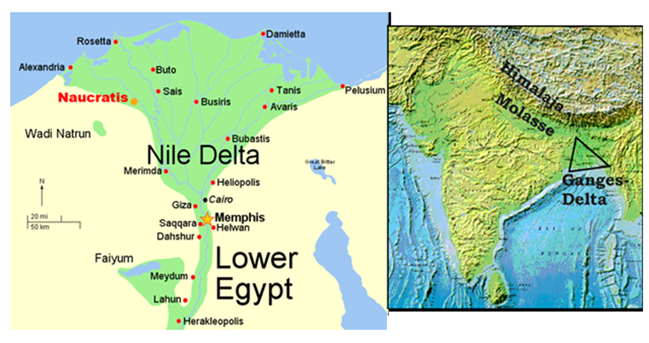 Image of Lower Egypt And Ganges Delta
