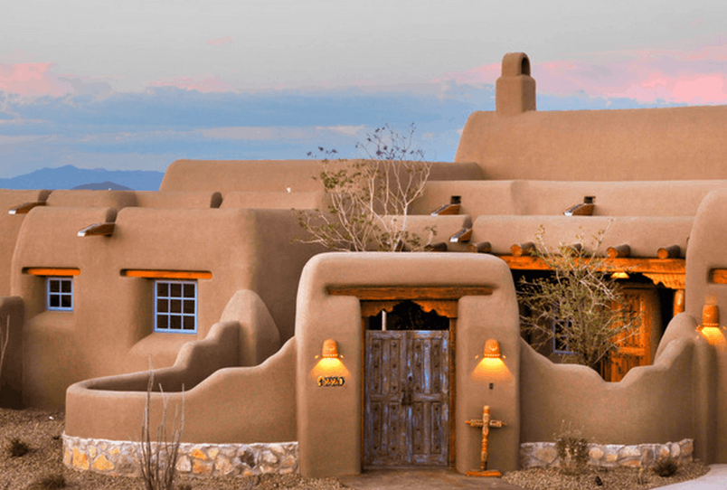 Image of Pueblo Revival Style House