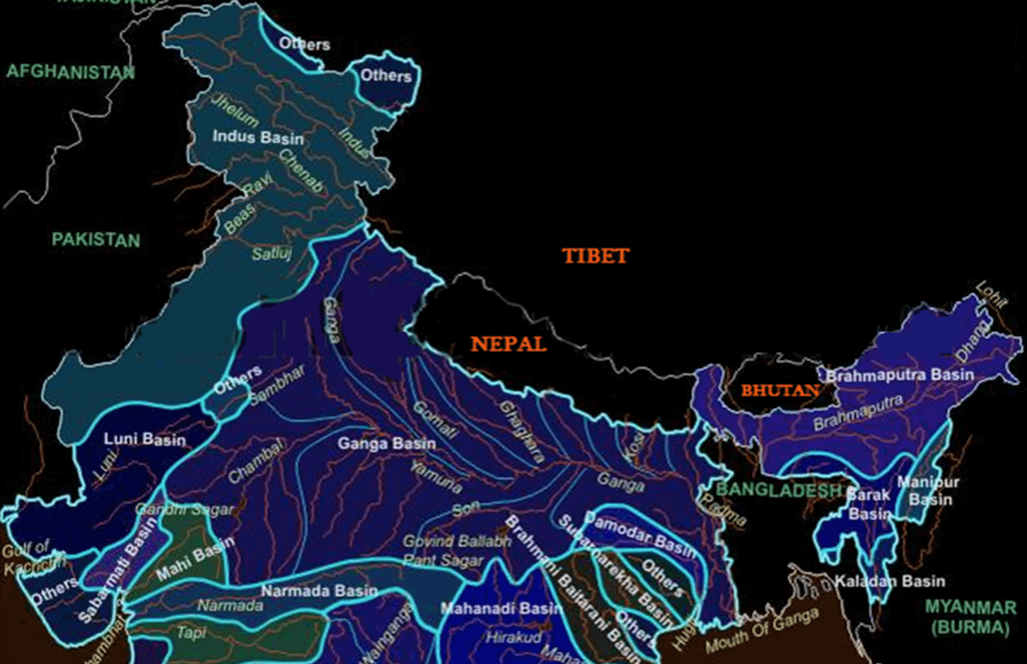 Drainage of India Rivers Iamge-2