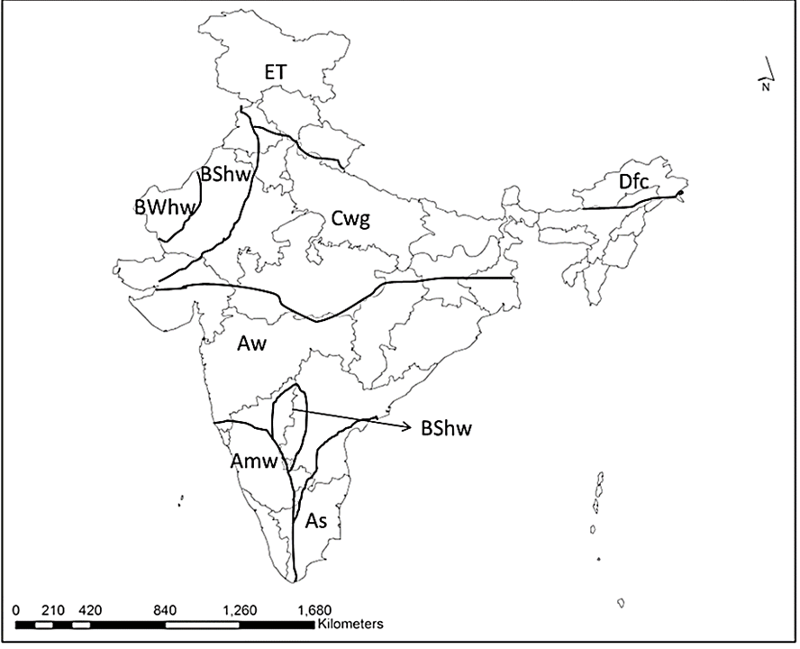 India Climatic Classification Image-1