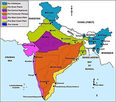 Image of Physical Features of India