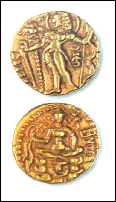 Image of Gold Coin of Kushana King Vima Kadphises