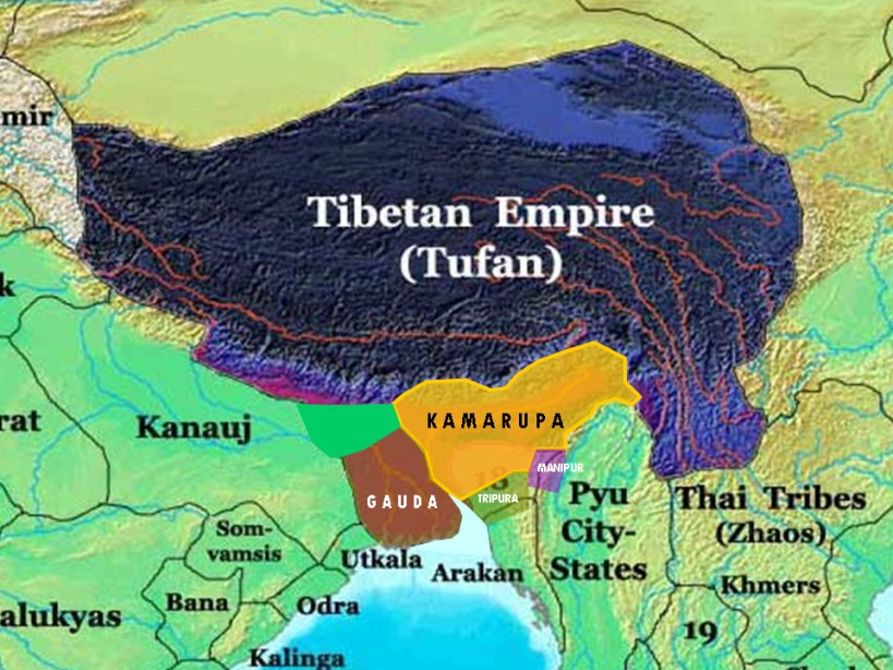 Tufan or Tibetan Empire and neighbouring regions