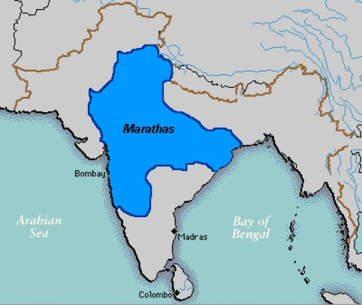 Map of Maratha Empier