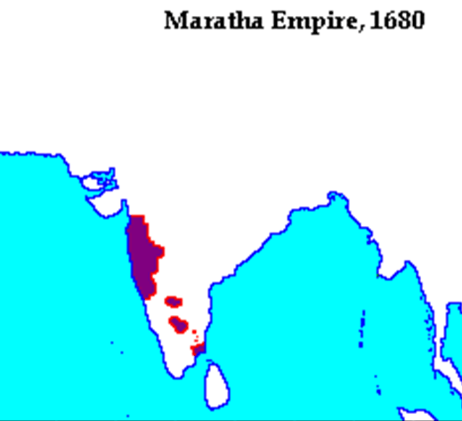 Maratha Empire in 1680 A.D.