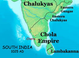 detaild map of Chola empire