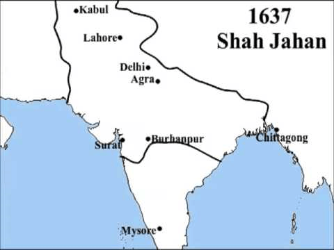 Detailed Map of Shah Jahan Empier