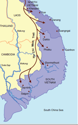 Map of Laos and Cambodia with branches
