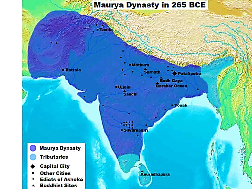 Image of Maurya Dynasty In 265 BCE For History