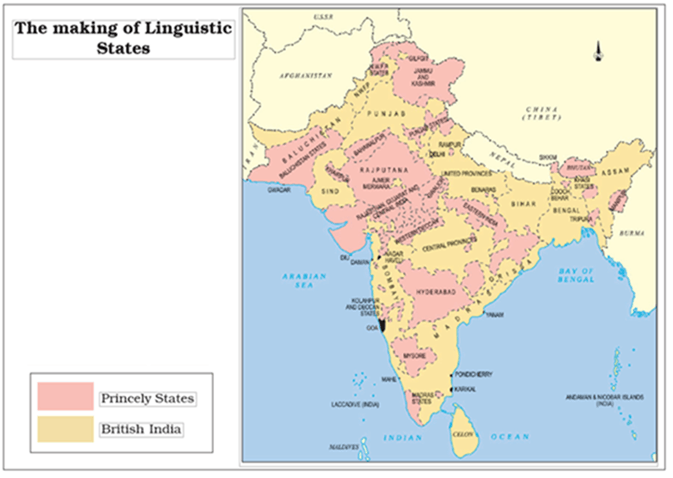 Map of Linguistic States