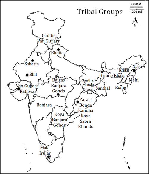 Map of Tribal Groups