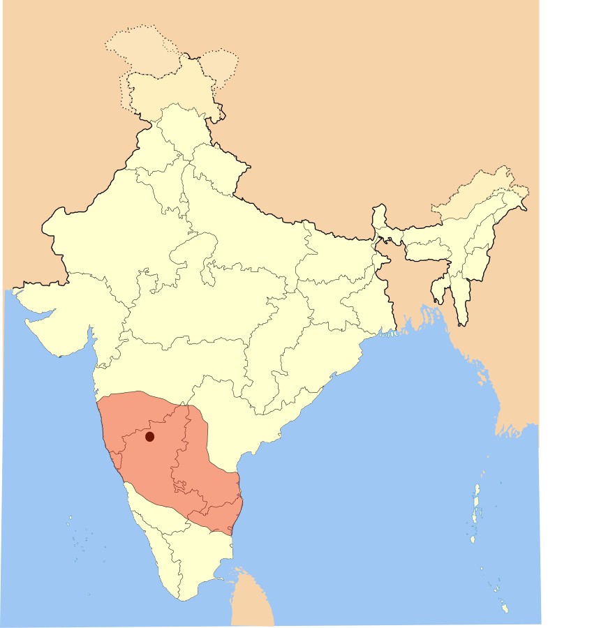 Detailed map of Adil Shahi Dynasty