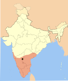 Map of Vijayanagar Empire