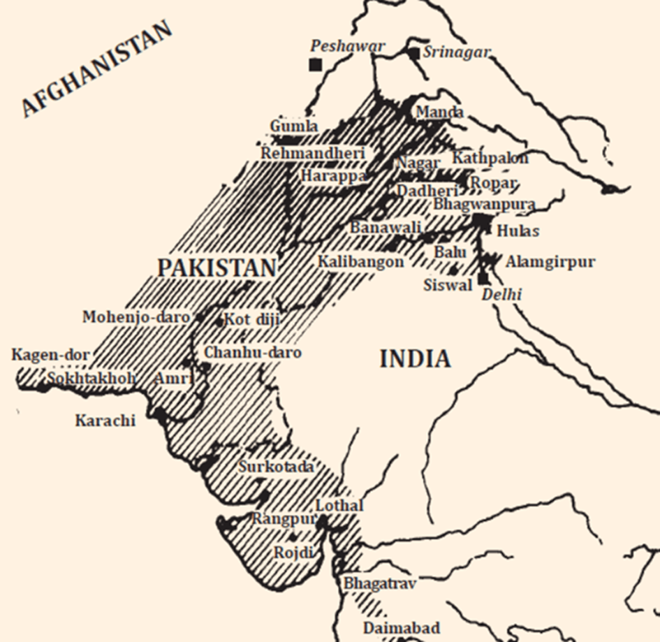 Map of Indus Valley Civilization