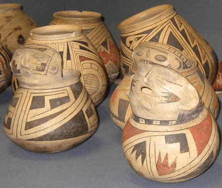 Pottery With Geometric Patterns For Indian Culture