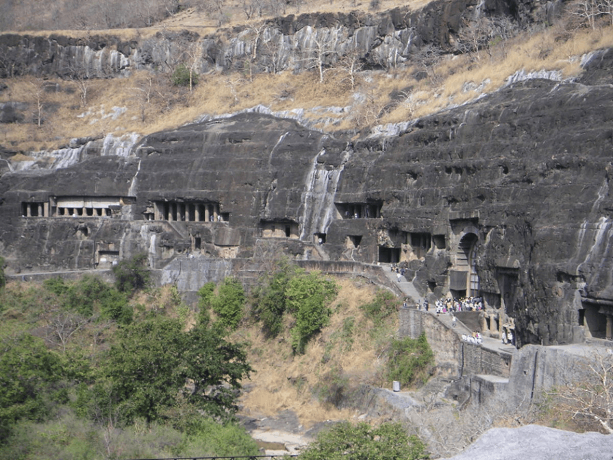 Image of Famous Cave Site Is Ajanta