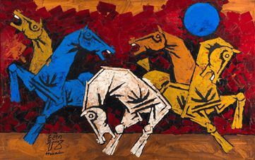 Image of M.F.Hussain Painting