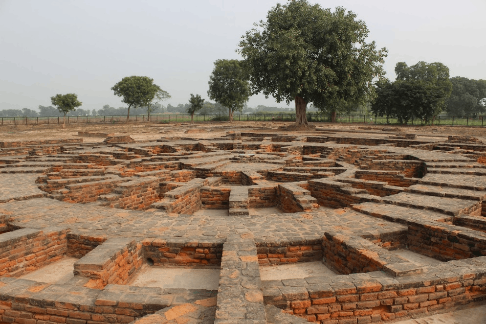 Image of stupa sculptures at Sanghol in the Punjab