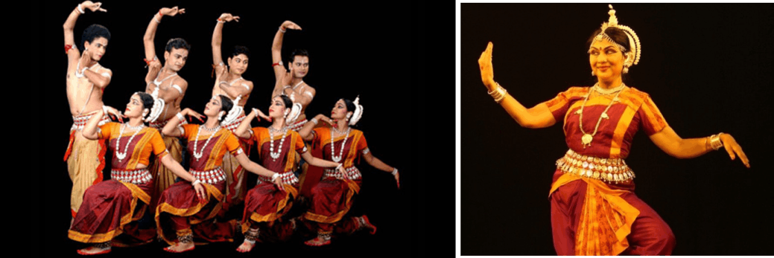 Image of Odissi group Dance Form