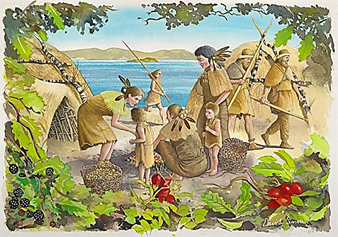 Image of Mesolithic Period For Indian Culture