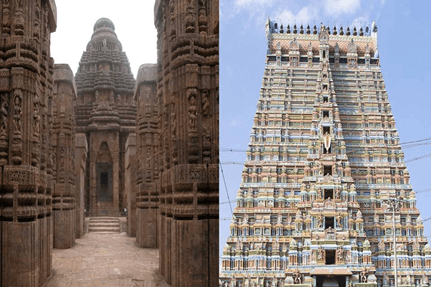 North and south temples