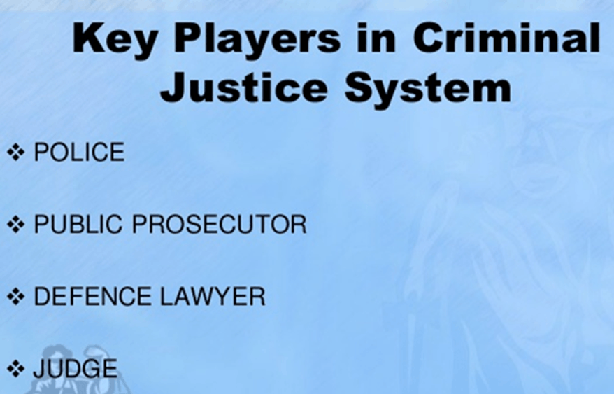 Image of Key Players In Criminal Justice System