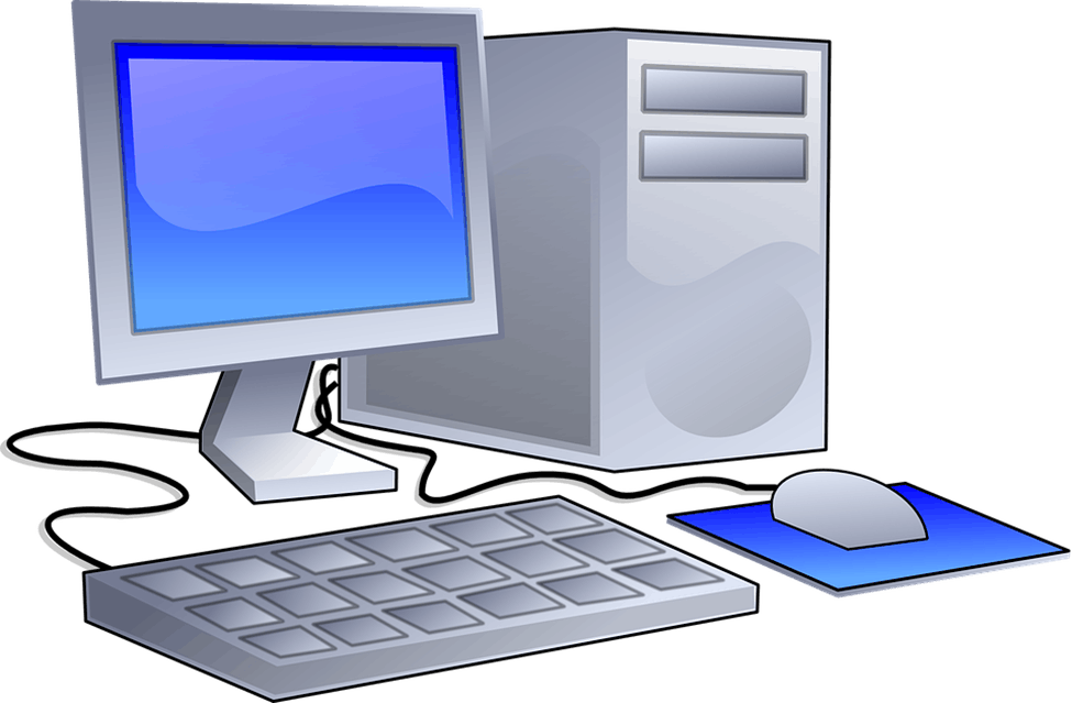 Image of Computer And Its Input Devices
