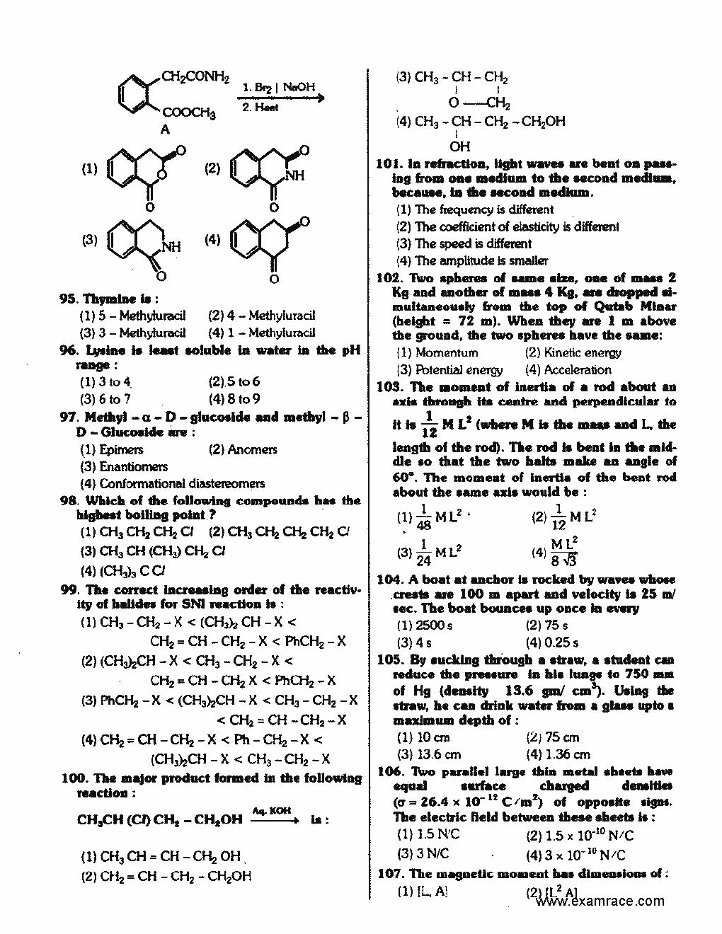 Question pdf 2008 aiims paper