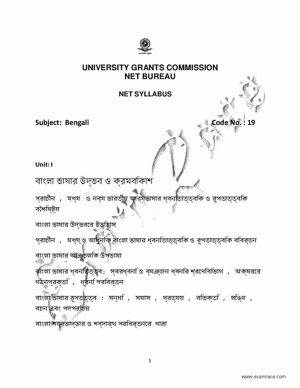 NTA NET Bengali 2019 Updated Syllabus- Translation in Hindi