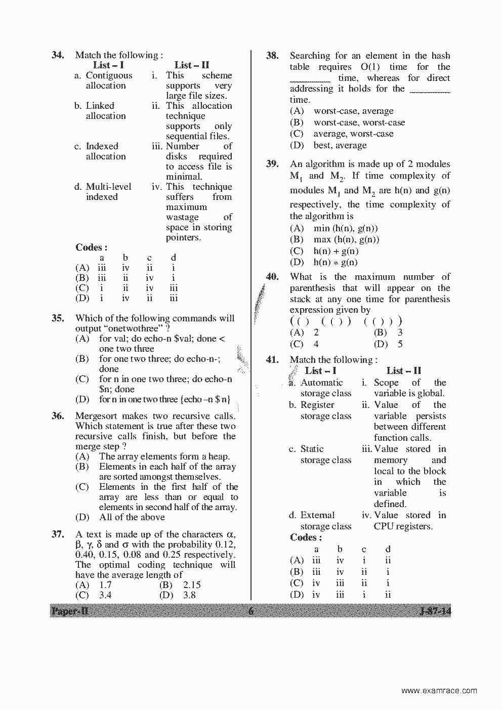 Ugc Net Syllabus Computer Science 2015 Pdf