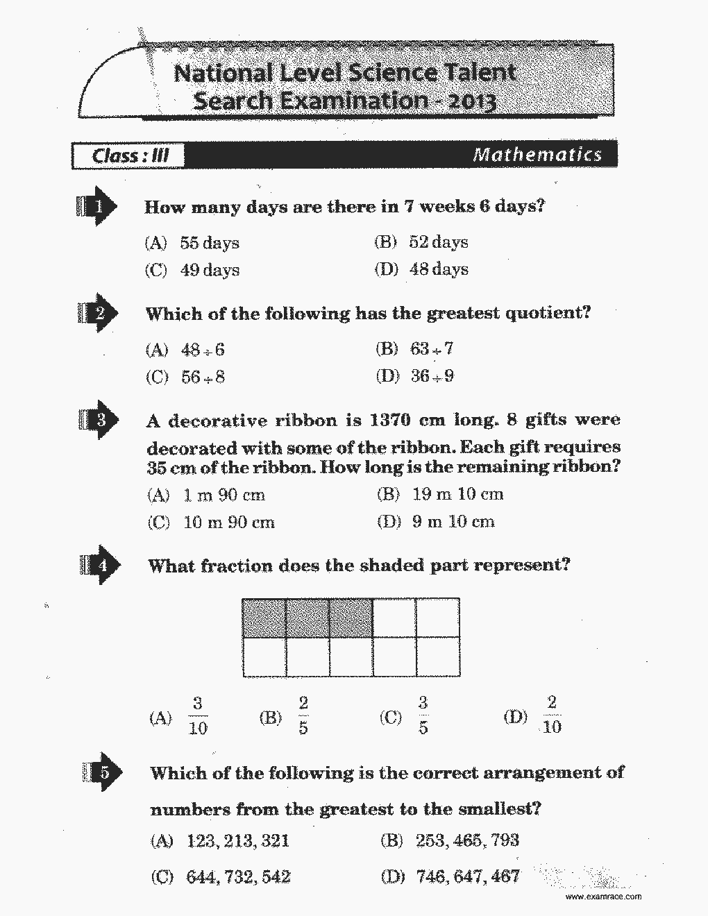 Nstse class 3 solved paper 2013 translation in hindi kannada nstse class 3 solved paper 2013 page 1 malvernweather Images